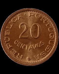 Moçambique 20 Centavos 1974 FC