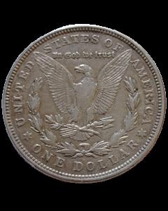 """Estados Unidos 1 Dólar 1921 """"D"""" - Dólar Morgan (Prata)"""