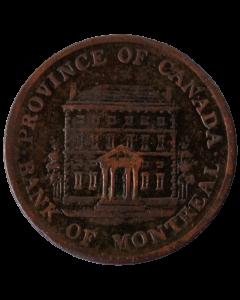 Províncias Canadenses ½ centavo 1844 - Banco de Montreal