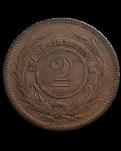 Uruguai 2 Centésimos 1869 H