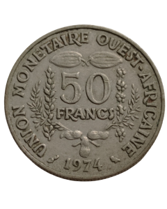 África Ocidental (BCEAO) 50 Francos 1974 FAO