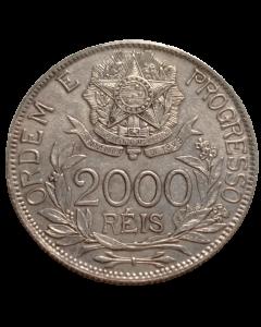 Brasil 2000 Réis 1912 - Estrelas Ligadas (Prata)