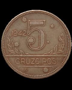Brasil 5 Cruzeiros 1942 Sob