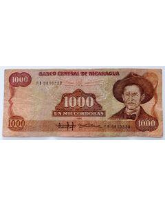 Nicarágua 1000 Córdobas 1985
