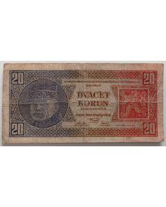 Checoslováquia 20 Korun 1926