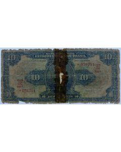 Brasil 10 Mil Réis 1936 - R110c