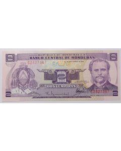 Honduras 2 Lempiras 1976 FE - Comemorativa de 76