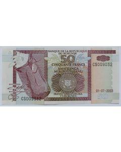 Burundi 50 Francos 2003 FE
