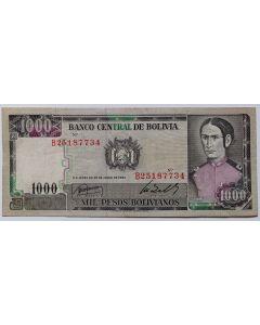 Bolívia  1000 Pesos Bolivianos 1982